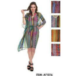 12 of MultI-Color Striped Chiffon Coverup