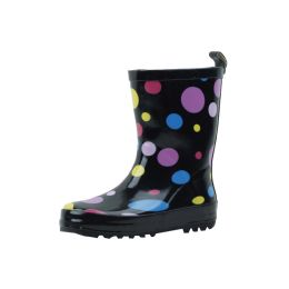 18 of Kid's MultI-Color Polka Dots Rubber Rain Boots