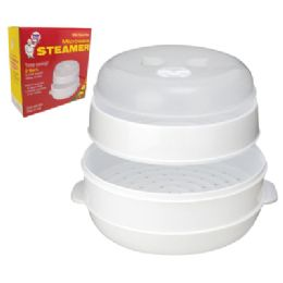 12 of 2 Tier Microwave Steamer With Steam Vent