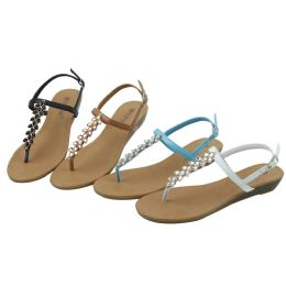 36 of Ladies' Fashion Sandals Assorted Colors Size 5-10