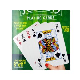 12 of Jumbo Novelty Playing Cards