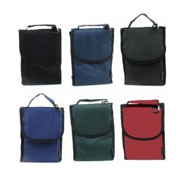 24 of Insulated Lunch Bag Assortment In Solid Color Prints