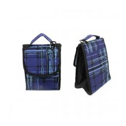 """24 of 10"""" Insulated Lunch Bag In A Blue Plaid Print"""