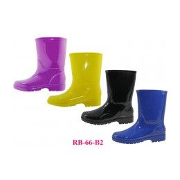 24 of Children's Rain Boots ( *asst. Black Blue Purple And Yellow )