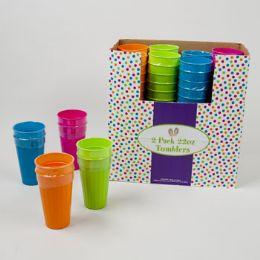 96 of 2pk 22oz Plastic Tumblers In 4 Asst Colors