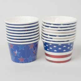 72 of Treat Cups Patriotic 8ct/8oz 2ast 24pc Pdq Shrink W/label