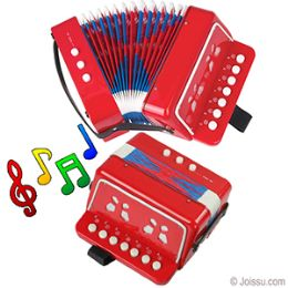 12 of Junior Accordion Muscial Intstrument - Red.