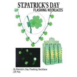 24 of Saint Patricks Day Flsh Necklaces