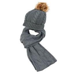 12 of Knit Beanie Hats With Pom Pom And Knit Scarf