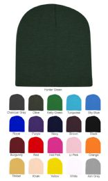 48 of Unisex Short Ski/beanie Hat 8 Inch In Olive