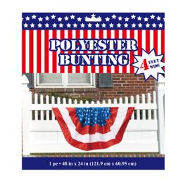 24 of Bunting Patriotic Polyester