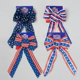 96 of Bow Patriotic Wired Ribbon 5loop