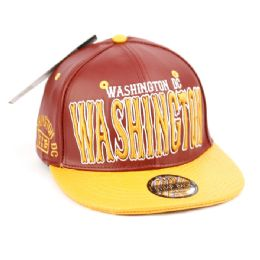 12 of Faux Leather Caps With Washington