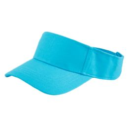 24 of Cotton Solid Color Visor In Torquoise