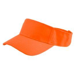 24 of Cotton Solid Color Visor In Orange