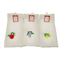 120 of Kitchen Towels W Fruit Embrodiery