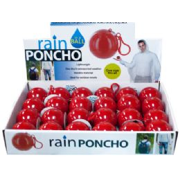 72 of Rain Poncho In A Ball Countertop Display