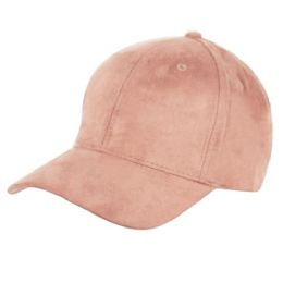 12 of Faux Suede Six Panel Plain Cap
