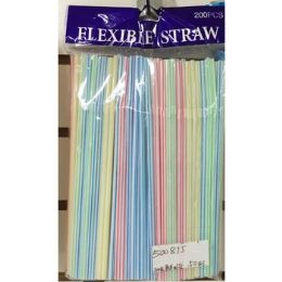 50 of 200 Pack Flexible Straws