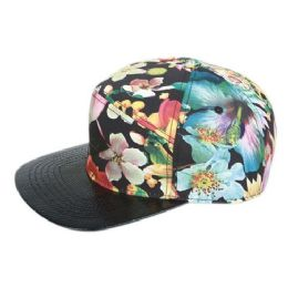 12 of Multi Color Print Five Panel Cap