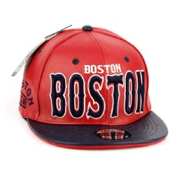 12 of Faux Leather Caps With Boston