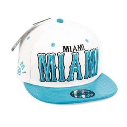 24 of Faux Leather Caps With Miami