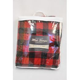 12 of Mink Sherpa Ultimate Blanket 50x60 Red Buffalo Plaid