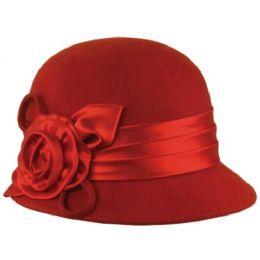 12 of Wool Felt Cloche Hat With Flower