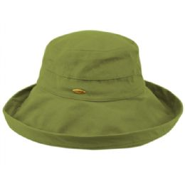 12 of Cotton Canvas Sun Cloche Hats In Lime