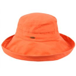 12 of Cotton Canvas Sun Cloche Hats In Orange