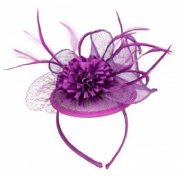12 of Fascinator With Flower Trim In Lavender