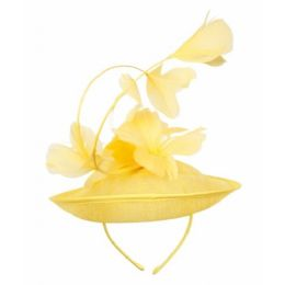 12 of Sinamay Fascinator With Flower On The Top In Yellow