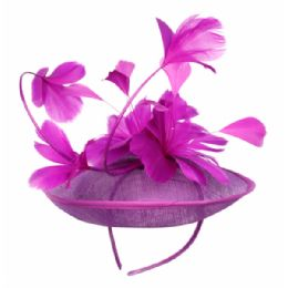 12 of Sinamay Fascinator With Flower On The Top In Lavender