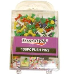 96 of 150 Piece Push Pins In Plastic Case