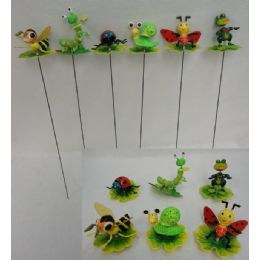 144 of Yard Stake [insects On Leaves/lily Pad Assortment]