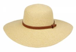 12 of Braid Straw Floppy Hats With Leather Band