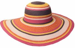 12 of Straw Braid Stripe Floppy Hats