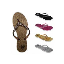 60 of Women's Beaded Flip Flops(6-11)