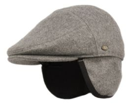12 of Melton Wool Flat Ivy Caps With Earmuff In Charcoal