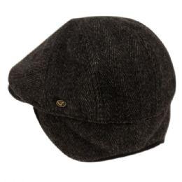 12 of Herringbone Wool Flat Ivy Caps With Earmuff In Black
