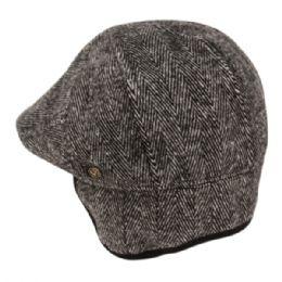 12 of Herringbone Wool Flat Ivy Caps With Earmuff In Grey