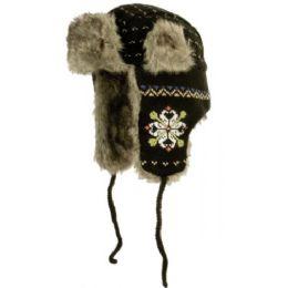 24 of Intarsia Multi Yarn Knit Faux Fur Trooper