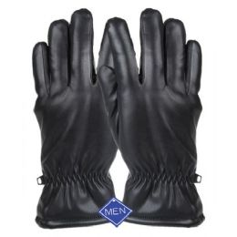 12 of Men's Faux Leather Glove