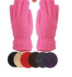 24 of Ladies Thermal Fleece Glove Assorted Color