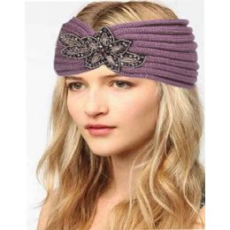12 of Fashion Knit Headband With Sequence Flower Trim