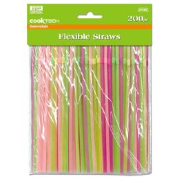 96 of Two Hundred Count Flexible Straws