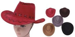 96 of Unisex Assorted Color Cowboy Hat