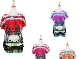 60 of Women's Assorted Color Fashion Tops