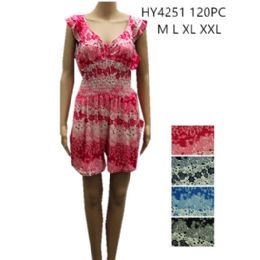48 of Womens Fashion Summer Romper Assorted Color And Size