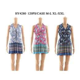 48 of Womens V Neck Tied Short Sun Dresses In Assorted Colors